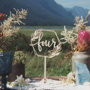 Floral Geometric table numbers for wedding centerpieces
