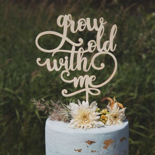Grow Old with me Wedding Cake Topper