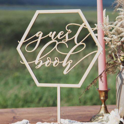 Guest Book Sign Geometric Wedding Table Signs