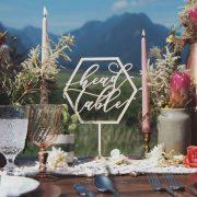 Head Table Sign and Geometric Wedding Decor