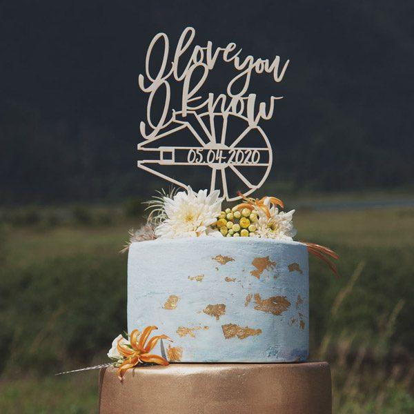 I love you I know Wedding Cake Topper