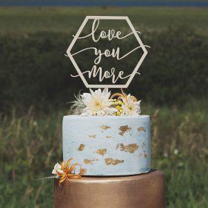 Modern wedding cake topper