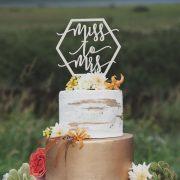 Miss to Mrs Bridal Shower Cake Topper