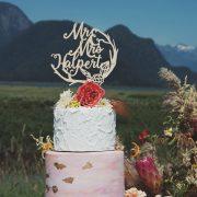 Boho Wedding Cake Topper
