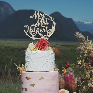 Boho Wedding Cake Topper