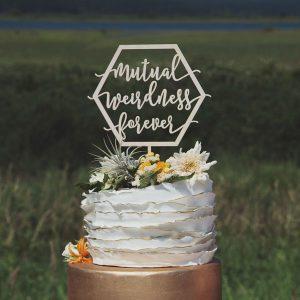 Mutual Weirdness Forever Wedding Cake Topper