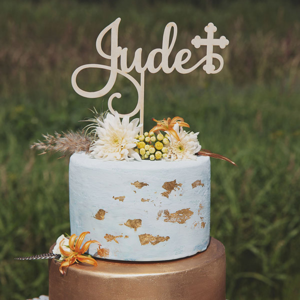 Custom Baptism Cake Topper by Thistle and Lace