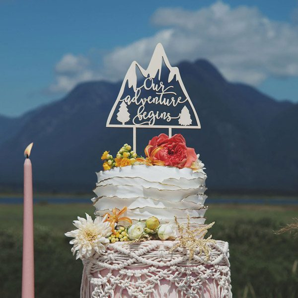 Our Adventure beings cake topper