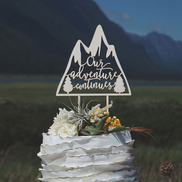 Our adventure Continues Mountain Cake Topper