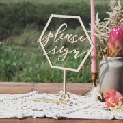 Please Sign Geometric Wedding Table Signs