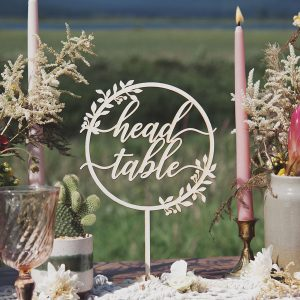 Rustic Head Table Sign and Wedding Decor