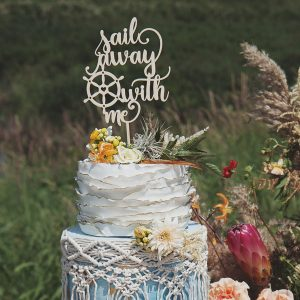 Sail Away With Me Wedding Cake Topper