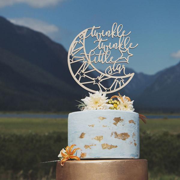 Twinkle Twinkle Little Star Cake Topper: A baby shower ...