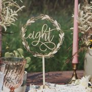 Rustic wedding table numbers for wedding centerpieces