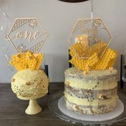 First Birthday Bee Cake Topper by Thistle and Lace Designs Inc
