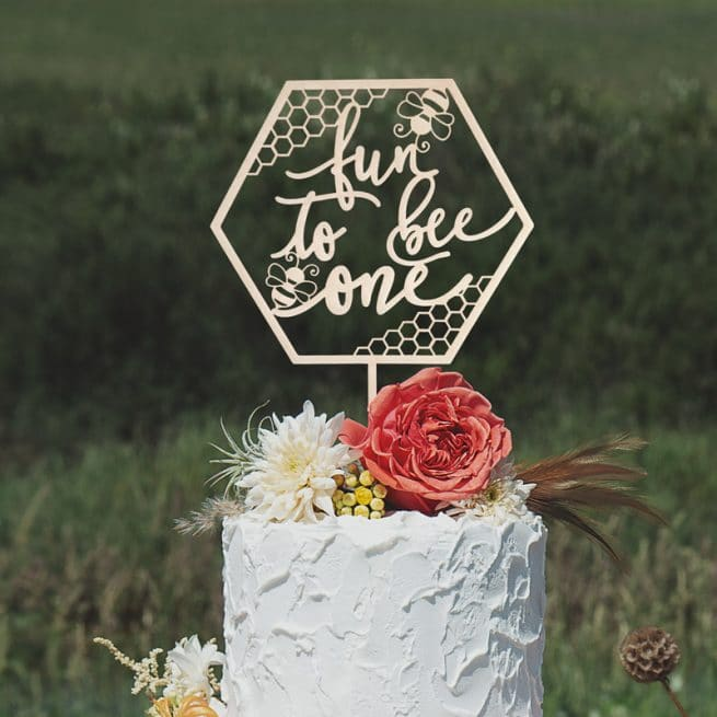 Fun to Bee One First Birthday Cake Topper