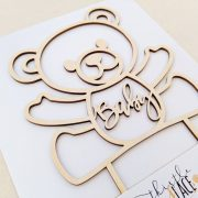 Teddy bear cake topper by Thistle and Lace Designs Inc