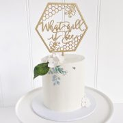 What will it bee cake topper by Thistle and Lace