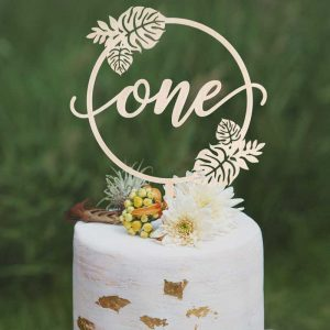 Tropical Birthday Cake topper