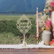 Guest Book Art Deco Wedding Sign