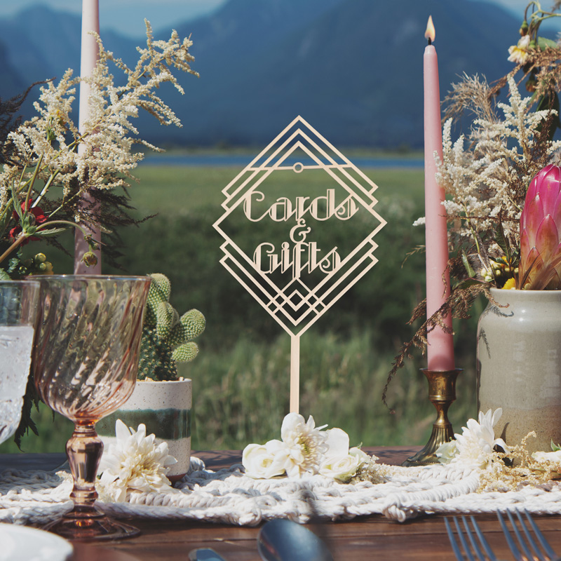 Cards and Gifts Art Deco Table Sign by Thistle and Lace