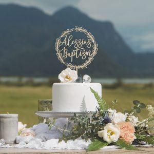 Custom Baptism Cake Topper