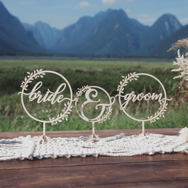 Rustic Bride and Groom Table Signs