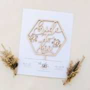Bride to bee bridal shower cake topper by Thistle and Lace Designs Inc