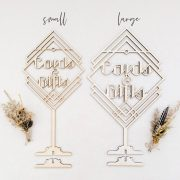 Cards and Gifts Art Deco Table Sign