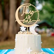 Space-Themed First Birthday Cake Topper