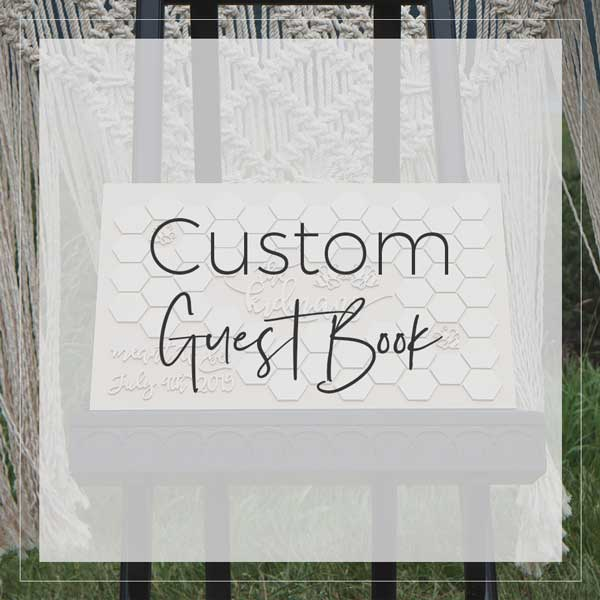 Custom Guest Book by Thistle and Lace