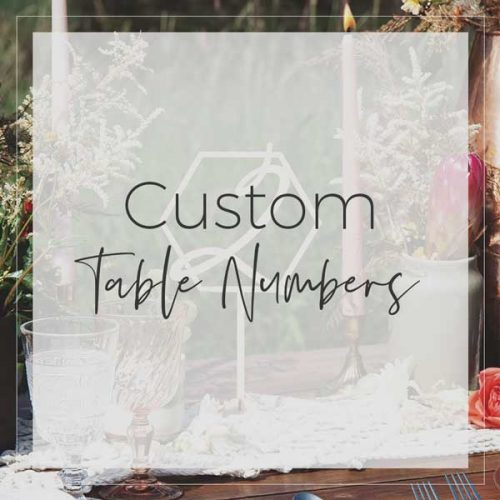 Custom Table Numbers