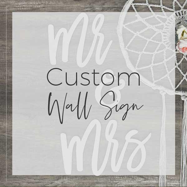 Custom Wall Sign