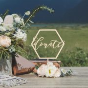 Donuts Geometric Wedding Table Signs