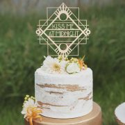 Kiss me at Midnight Wedding Cake Topper