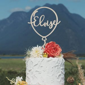 Custom Balloon Cake Topper