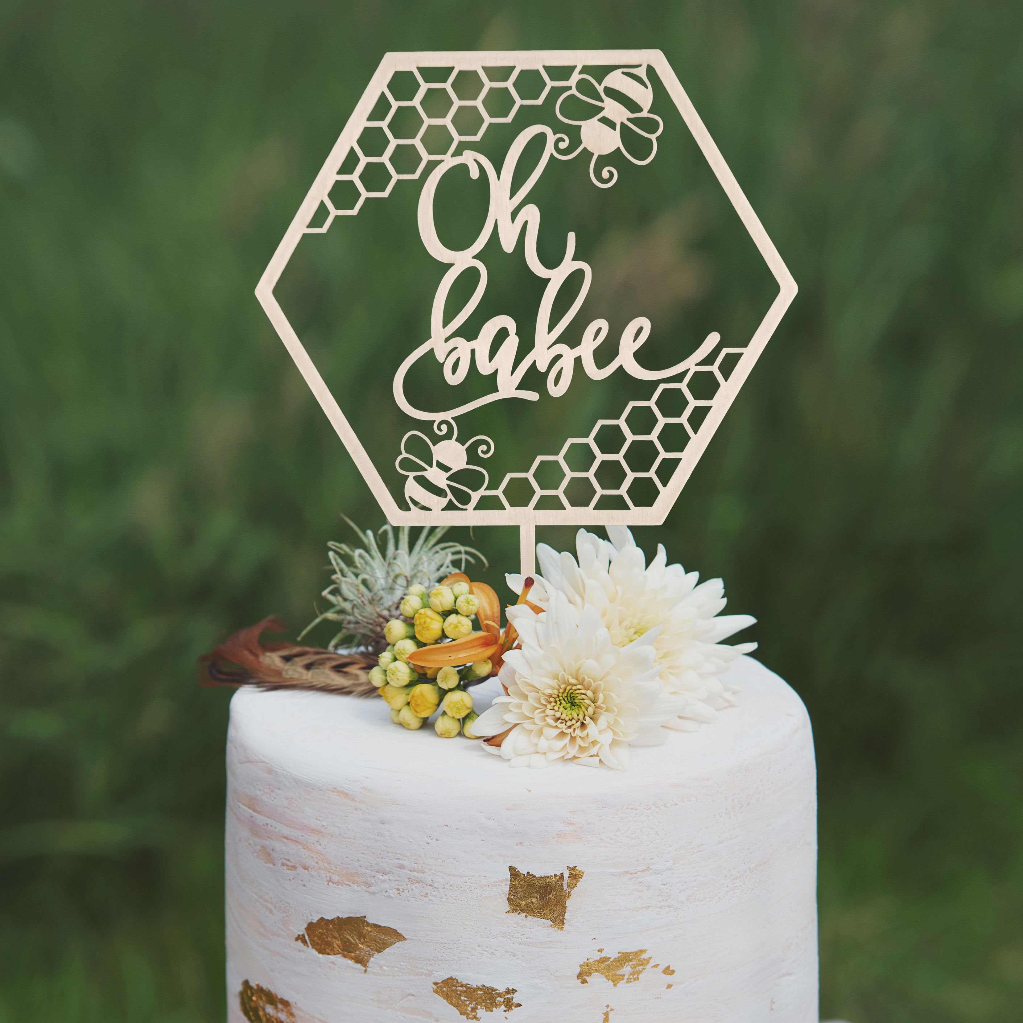 Oh Babee Cake topper by Thistle and Lace