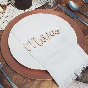 Elegant Seat Names and Wedding Decor