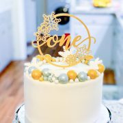 Winter onederland first birthday cake topper by Thistle and Lace Designs Inc