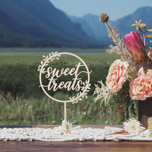 Sweet Treats Rustic Dessert Table Sign