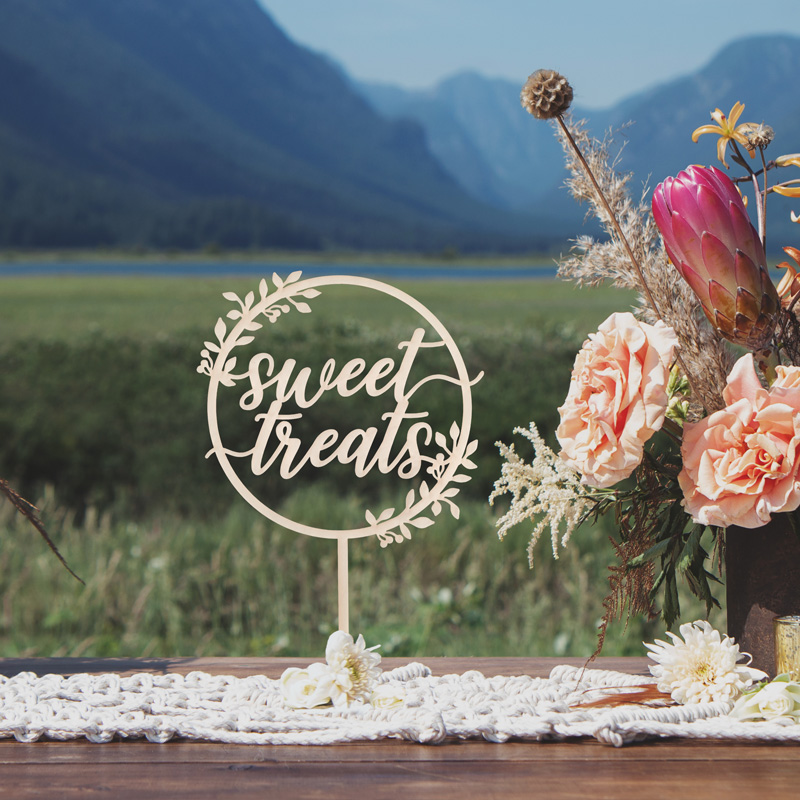 Sweet Treats Rustic Dessert Table Sign by Thistle and Lace