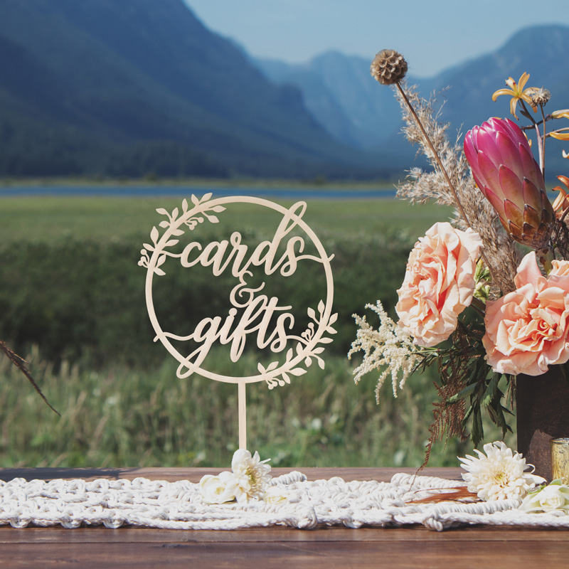 Rustic cards and Gifts Table Sign by Thistle and Lace