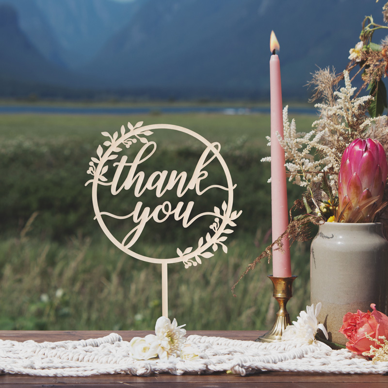 Thank you Rustic Table Sign by Thistle and Lace