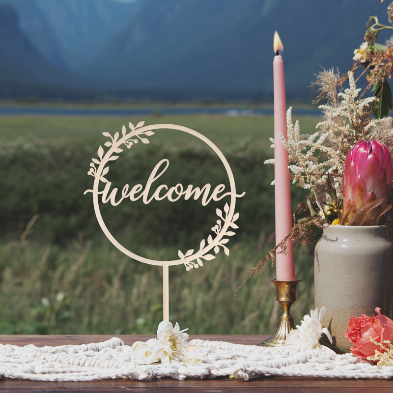 Rustic Welcome Sign by Thistle and Lace