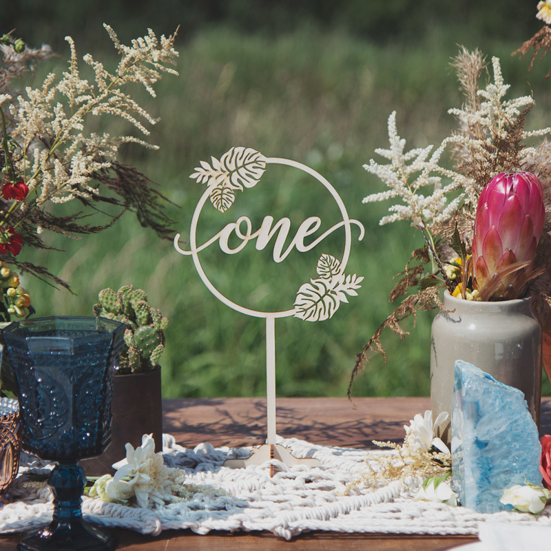 Beach Wedding Table Numbers by Thistle and Lace