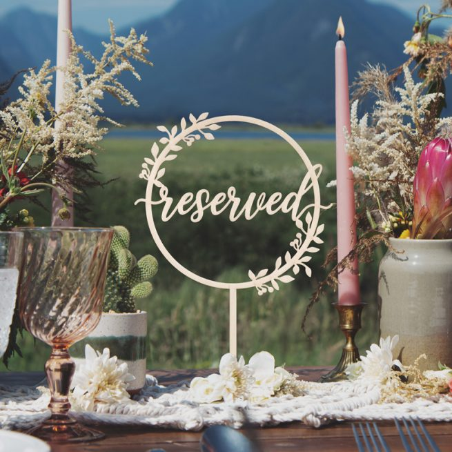 Rustic Reserved Table Sign