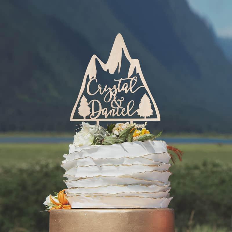 Custom Mountain Cake Topper