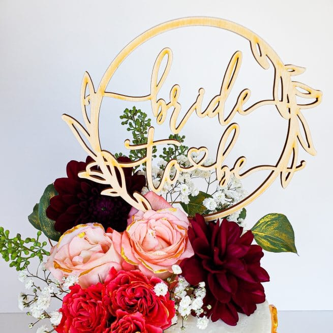 Bride to Be Modern cake topper