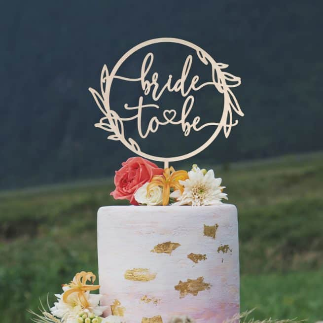 Rustic Bride to Be Cake Topper
