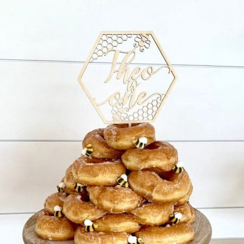 Custom Bee Birthday Cake Topper